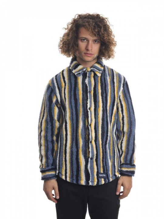 NAPA BY MARTINE ROSE JACKET T-MARGAY - STRIPE BLUE MR