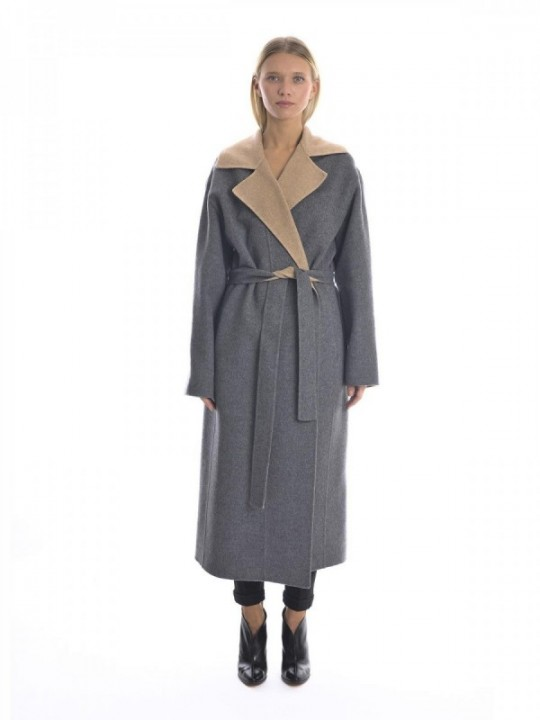 GIVENCHY COAT BWC04Y11DT - GREY/BEIGE
