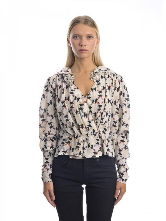 TOP ISABEL MARANT BLINEA - ECRÙ