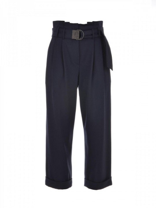 BRUNELLO CUCINELLI TROUSERS MB526P7024 - BLU
