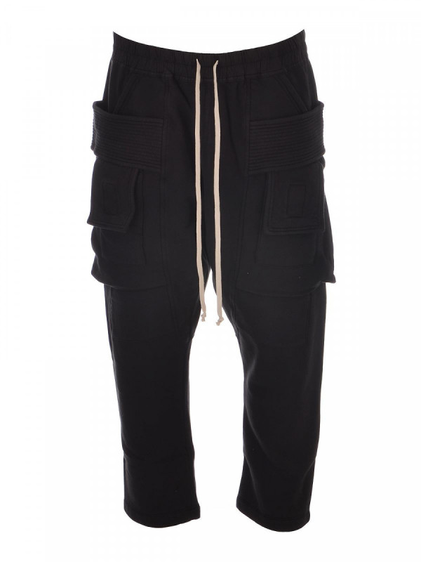 RICK OWENS DRKSHDW CARGO CROPPED TROUSERS